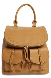 Sole Society Dixon Faux Leather Backpack Brown Camel