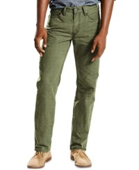 Levi's Men's 514 Straight Fit Jeans Meadow Green Lightweight Twill
