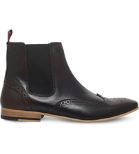 Kg By Kurt Geiger Remmy Leather Chelsea Boots Wine