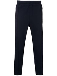 Ami Alexandre Mattiussi Trackpants With Heart Patch And Zipped Blue