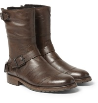 Belstaff Benhurst Shearling Lined Leather Boots