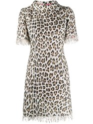 Blumarine Fringed Leopard Fitted Dress 60