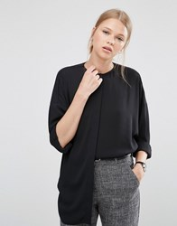Asos Oversized Batwing Blouse Black