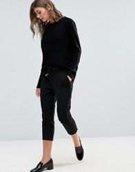 Only Poppy Pu Ankle Trouser Black