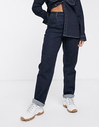 Gestuz Elenor Straight Cut Chino Style Jeans Co Navy
