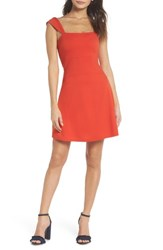 Ali And Jay Night At The Improv Ponte Fit Flare Minidress Poppy
