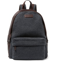 Brunello Cucinelli Leather And Felt Backpack Gray