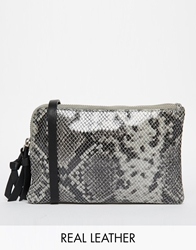 Becksondergaard Leather Mini Cross Body Bag Greypython