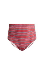 Belize Pepe High Rise Bikini Briefs Red Multi