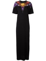 Marcelo Burlon County Of Milan Side Slit Embellished Maxi Dress Black