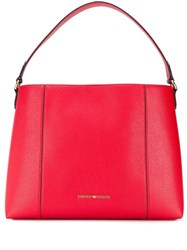 Emporio Armani Logo Shoulder Bag Red