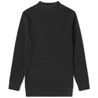 S.N.S. Herning Fender Rib High Neck Crew Knit Black