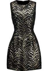Roberto Cavalli Metallic Brocade Mini Dress Black