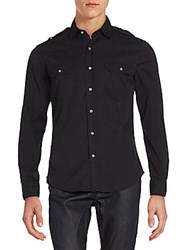Ralph Lauren Black Label Twill Military Rover Sportshirt Black