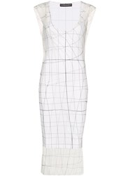 Y Project Printed Sheer Midi Dress White