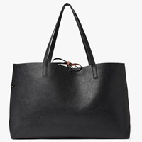 John Lewis Rachel Reversible East West Tote Bag Black Tan