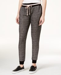 Jessica Simpson The Warm Up Juniors' Varsity Jogger Pants Black