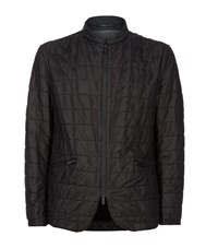 Armani Collezioni Quilted Perforated Jacket Male Black