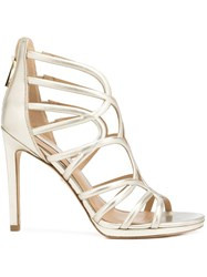 Diane Von Furstenberg Strappy Sandals Metallic