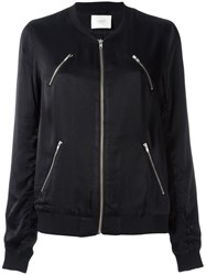 Just Female 'Painter' Bomber Jacket Black