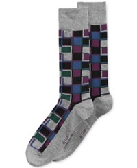 Alfani Men's Cubist Grid Socks Only At Macy's Black