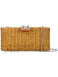 Rodo Woven Clutch Nude And Neutrals