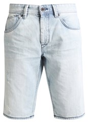 Celio Denim Shorts Bleached Light Blue Denim