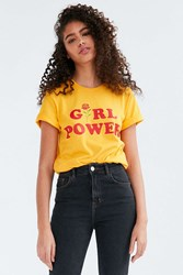 The Style Club Girl Power Tee Gold