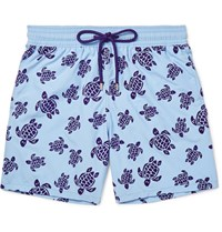 Vilebrequin Oorea Id Length Flocked Swi Shorts Blue