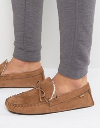 Totes Moccasin Slippers Tan