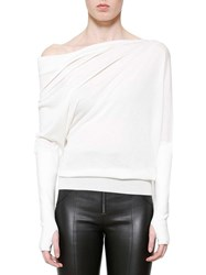 Tom Ford Off Shoulder Jumper White