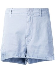 Dondup Embroidered Cactus Shorts Blue