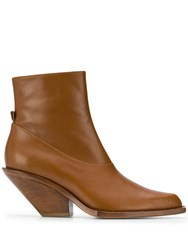 Just Cavalli Texas Ankle Boots Brown