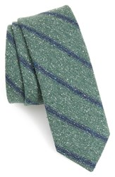 The Tie Bar Stripe Silk Hunter Green