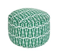 Surya Rain Anchor Pouf Grass Green Ivory