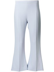 Antonio Berardi Cropped Flared Trousers Blue