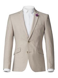 Aston And Gunn Alameda Stone Linen Blend Tailored Fit Jacket Stone