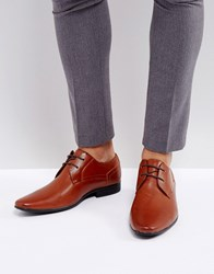 New Look Derby Shoes In Brown Tan
