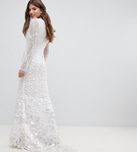 A Star Is Born Bridal Embellished Maxi Dress With Fishtail White