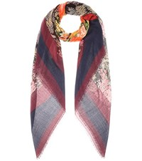 Balenciaga Silk And Wool Scarf Multicoloured