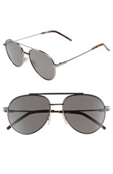 Fendi Men's 60Mm Polarized Aviator Sunglasses Dark Ruthenium