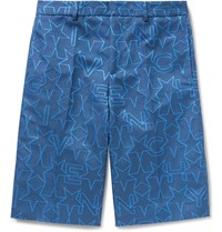 Givenchy Star Jacquard Bermuda Shorts Blue
