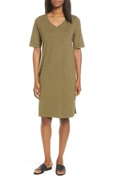 Eileen Fisher Women's Hemp And Organic Cotton Shift Dress Olive