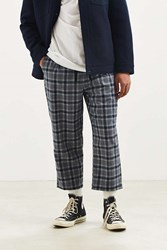 Urban Outfitters Uo Plaid Menswear Pant Grey Multi