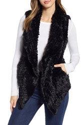 Love Token Faux Fur Vest Black