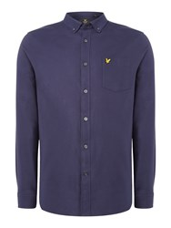 Lyle And Scott Men's Long Sleeve Oxford Shirt Navy