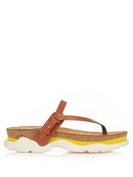 Stella Mccartney Altea Faux Leather Slip On Sandals Yellow White