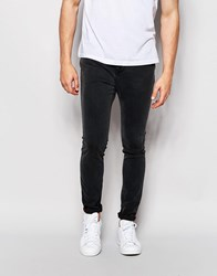 Pull And Bear Super Skinny Jeans In Dark Gray Gray