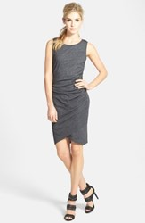 Leith Ruched Body Con Tank Dress Charcoal