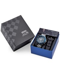 Seiko Men's Solar Chronograph Jimmie Johnson Special Edition Stainless Steel Bracelet Watch 45Mm With Interchangeable Strap No Color